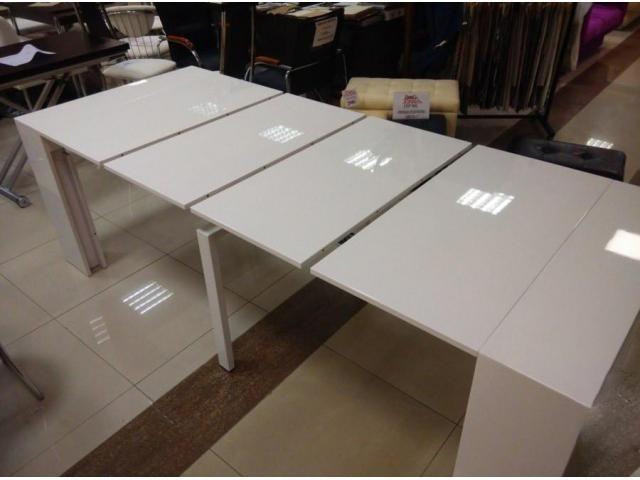 Стол трансформер, консоль, обеденный стол и стулья - 2/4