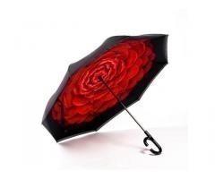 Автоматический умный зонт наоборот